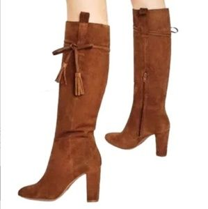 NEW Zara Leather Split Suade High Boots